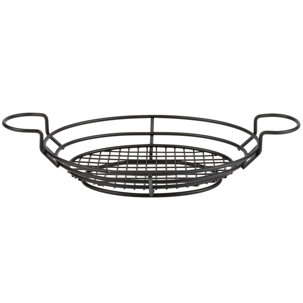 American Metalcraft BSKB811 Black Oblong Wire Basket with