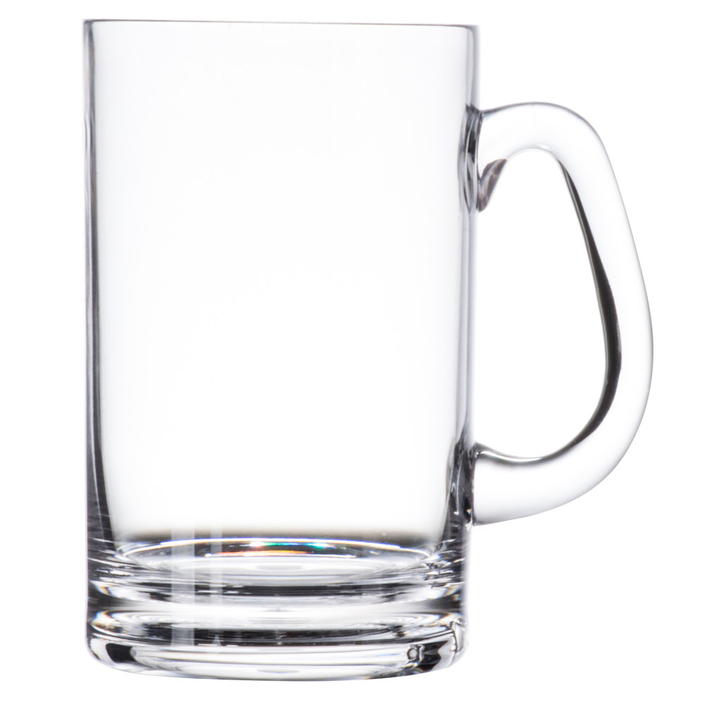 GET SW-1464-CL 20 oz. Clear Polycarbonate Beer Mug with