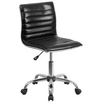 Flash Furniture DS-512B-BK-GG Mid-Back Designer Ribbed ...