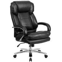 High-Back Black Leather Intensive-Use Multi-Shift Swivel ...