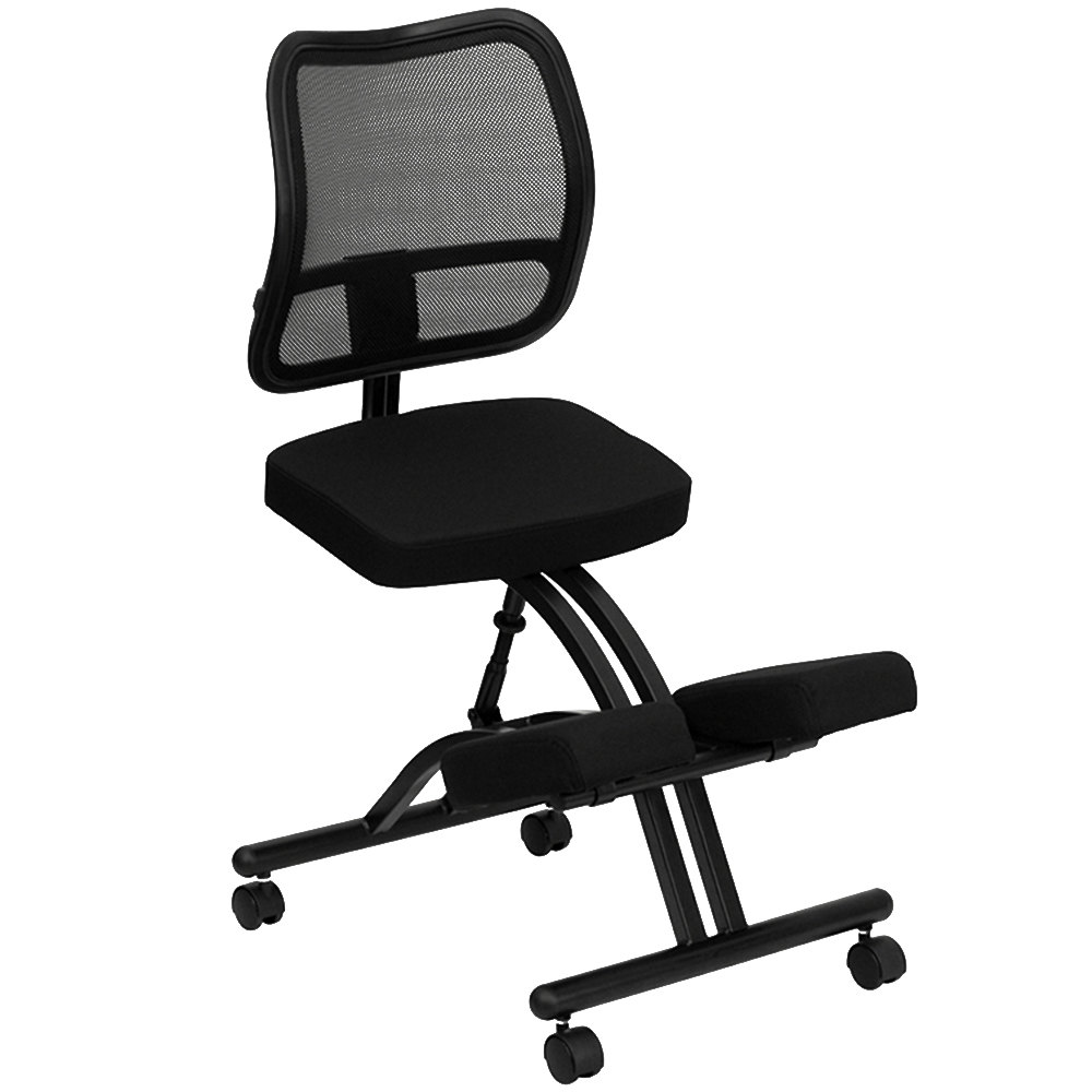 Flash Furniture WL 3520 GG Black Ergonomic Mobile Kneeling