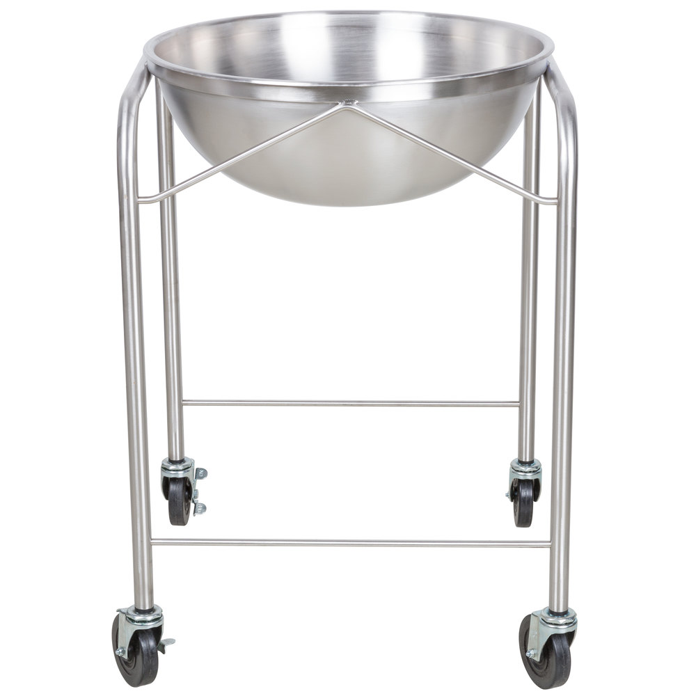Vollrath 79301 Stainless Steel Mobile Mixing Bowl Stand