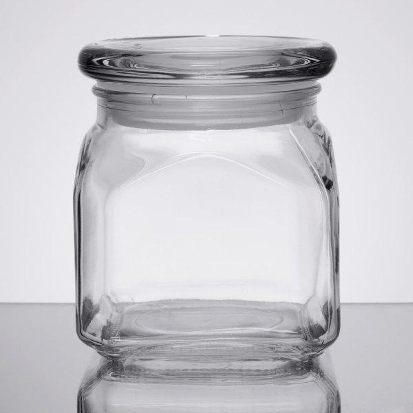 Anchor Hocking 85975 Emma 10 Oz. Glass Jar With Lid - 4 Case