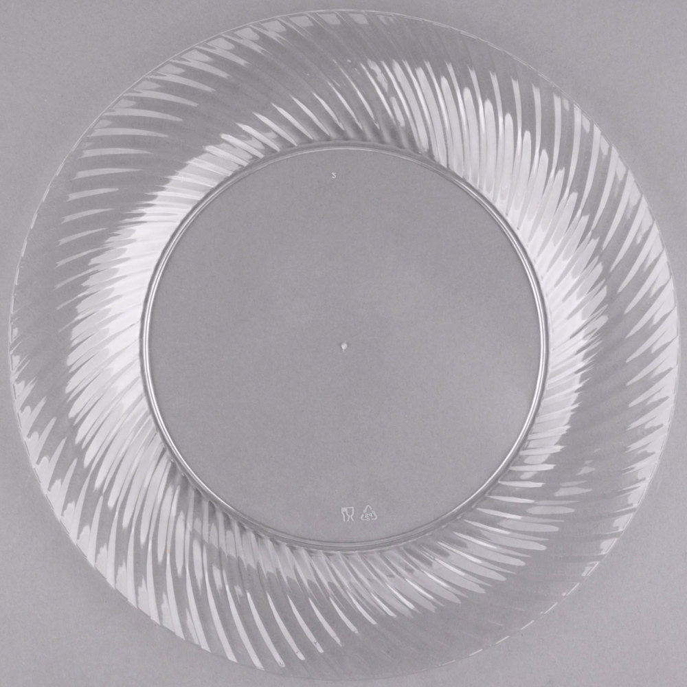 """Visions Wave 10"""" Clear Plastic Plate"""