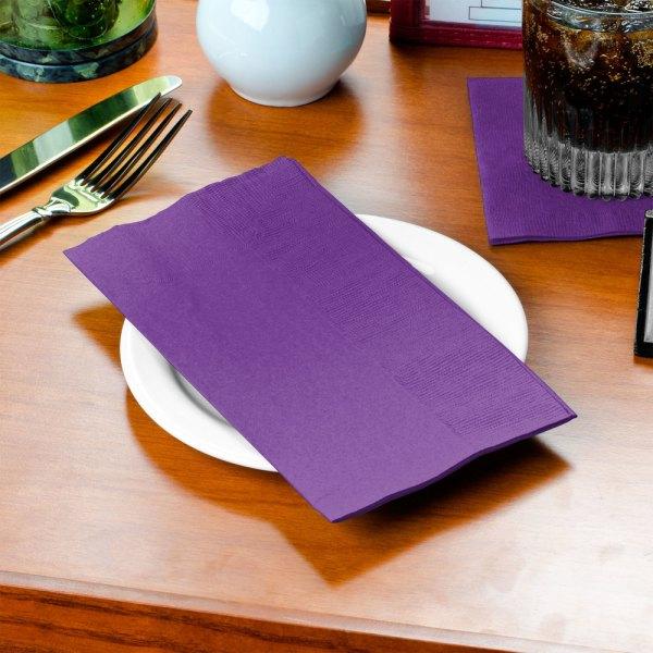 Amethyst Purple Paper Dinner Napkin 2-ply 1 8 Fold