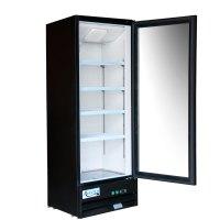 """Avantco GDC10 21"""" Swing Glass Door Black Merchandiser ..."""