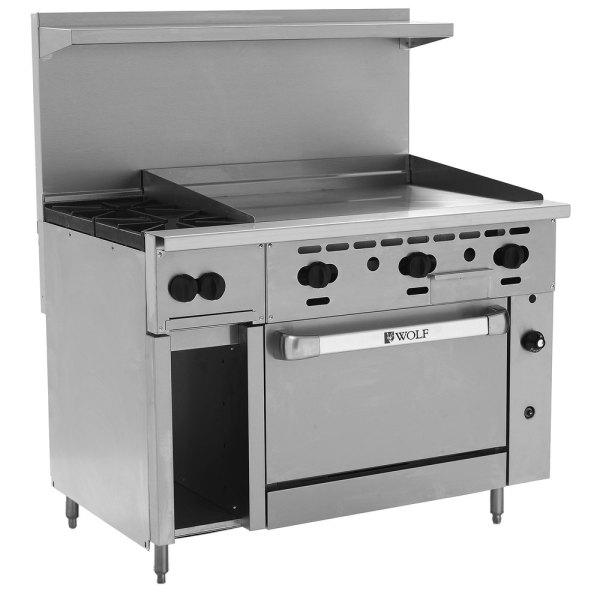 Wolf Commercial Range with Griddle