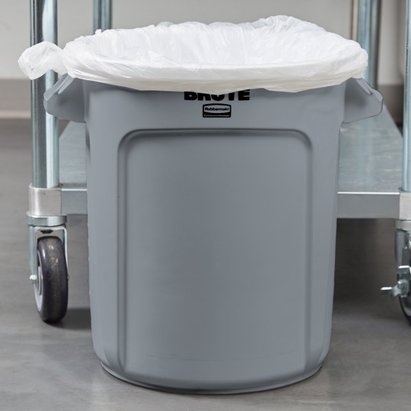 Rubbermaid Fg261000gray Brute Gray 10 Gallon Trash