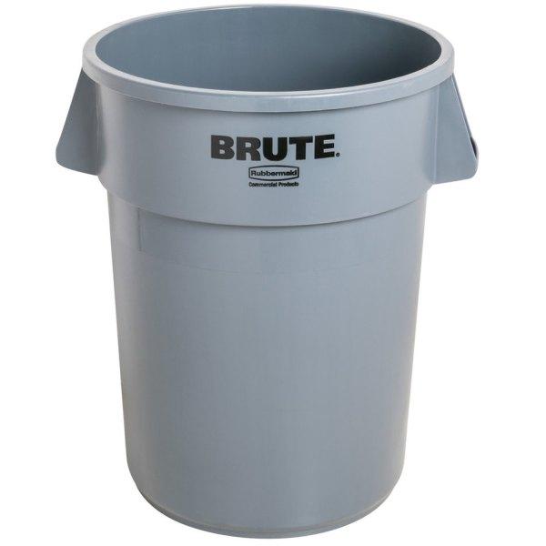 Rubbermaid Brute Fg261000gray Gray 10 Gallon Trash
