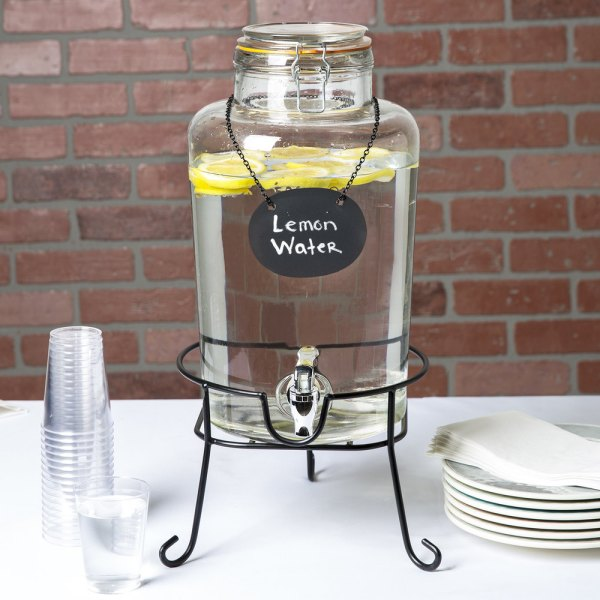 Core 2 Gallon Country Glass Beverage Dispenser With