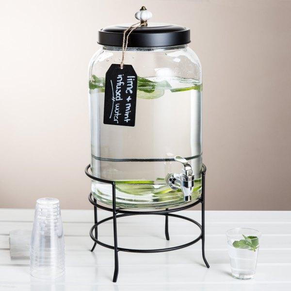 3 Gallon Style Setter Franklin Glass Beverage Dispenser
