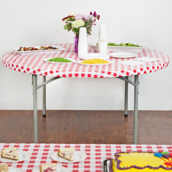"""Creative Converting 37288 Stay Put 60"""" Red Gingham"""