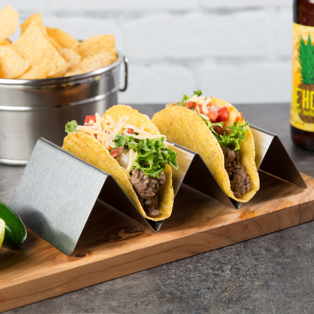 Choice Stainless Steel Taco Holder with 2 or 3