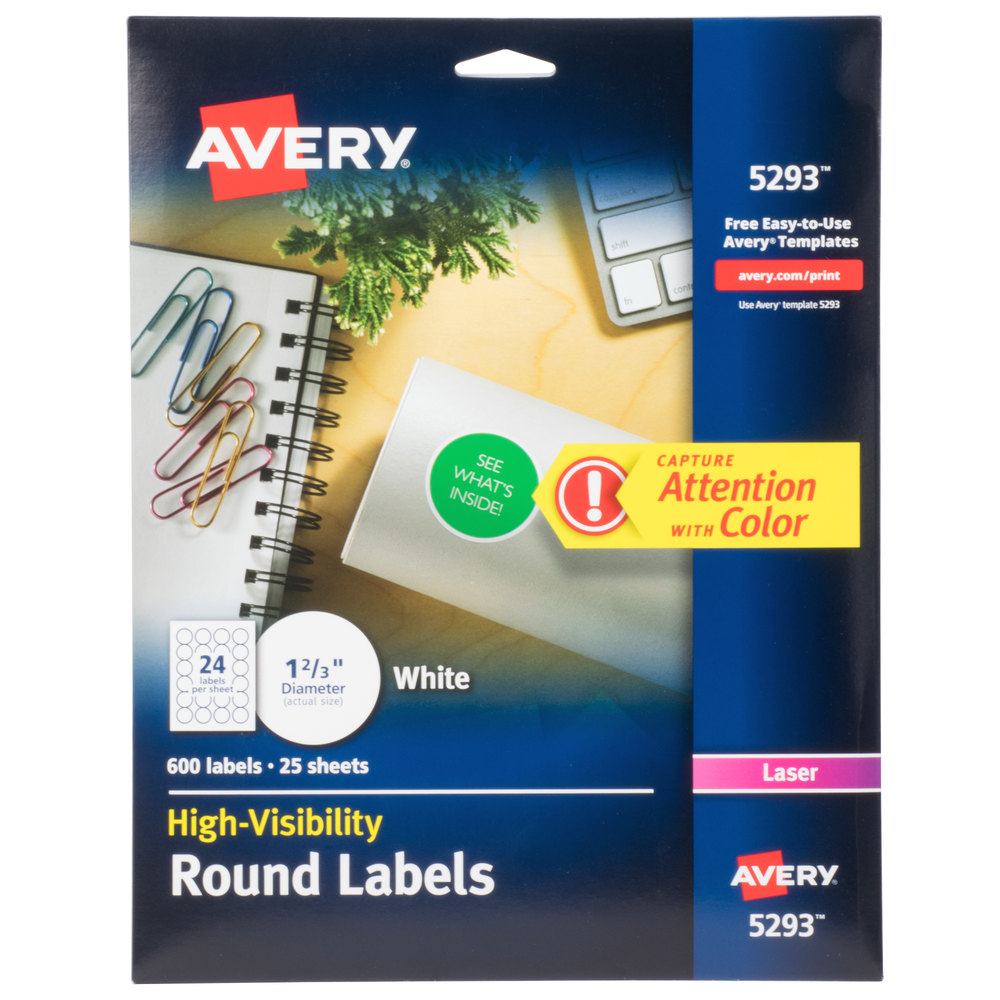 avery 5293 template