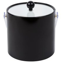 American Metalcraft Ibb30 3 Qt. Black Ice Bucket With Tongs