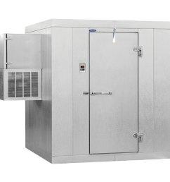 nor lake klf7766 w kold locker 6 x 6 x 7 7 indoor walk in freezer with wall mounted refrigeration [ 900 x 900 Pixel ]
