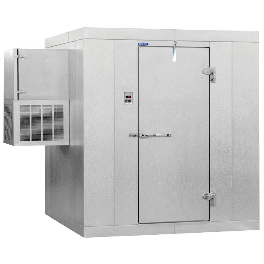medium resolution of nor lake klf7766 w kold locker 6 x 6 x 7 7 indoor walk in freezer with wall mounted refrigeration