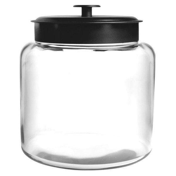 Anchor Hocking 88904 1 2 Gallon Glass Montana Jar With Metal Cover