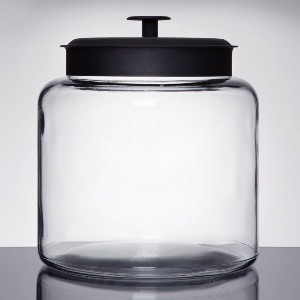 Anchor Hocking 88904 1 2 Gallon Glass Montana Jar With Metal Lid