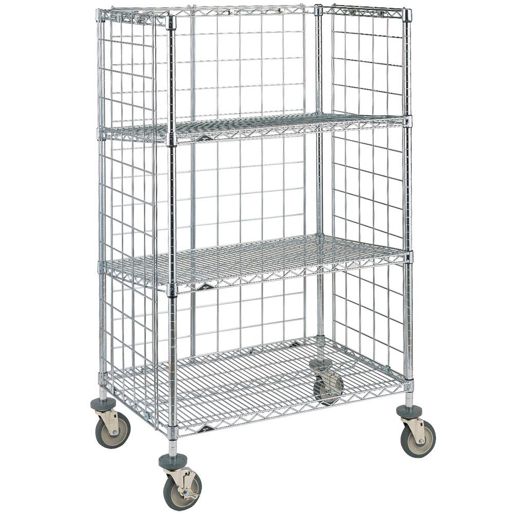 Metro Super Erecta AST35DC Chrome Wire Slanted Shelf Cart