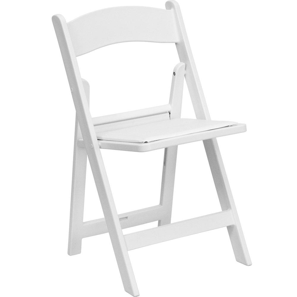 Flash Furniture 2LEL1WHITEGG White Plastic Folding