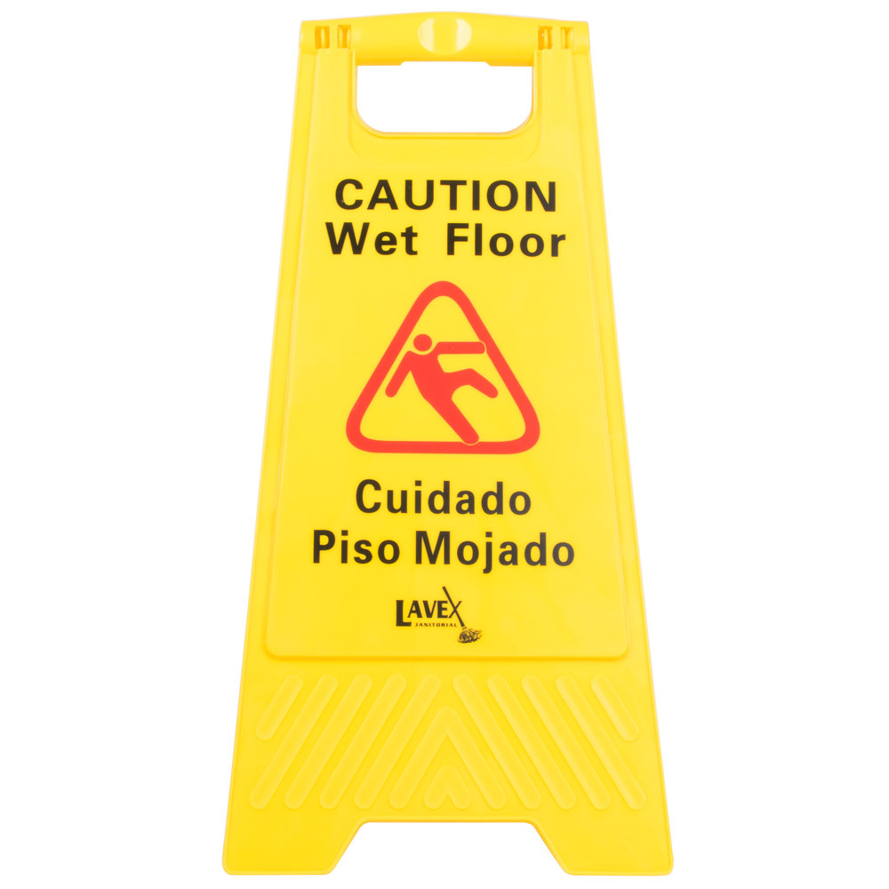 Lavex Janitorial 25 Caution Wet Floor Sign