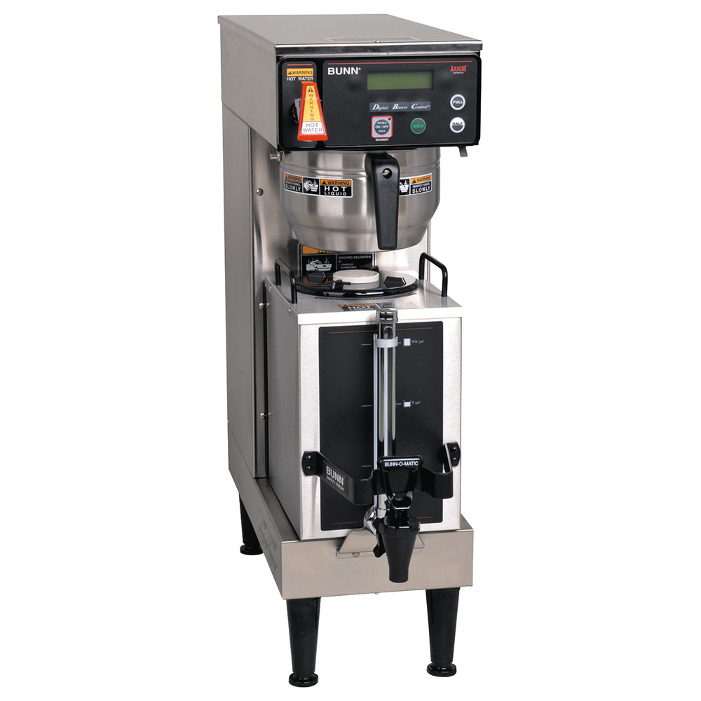 hight resolution of bunn 38700 0045 axiom single 1 gallon coffee brewer with portable server 120 208