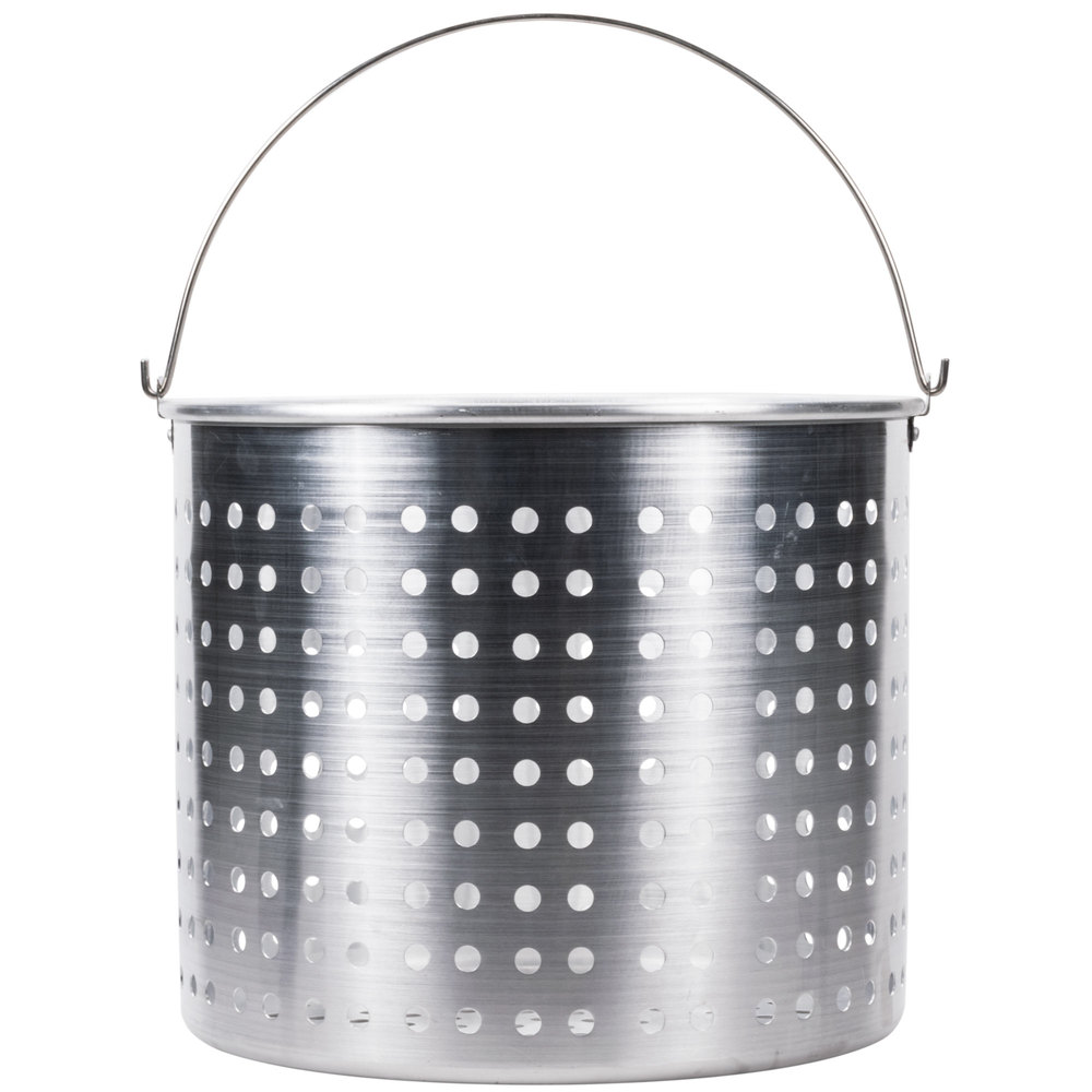 80 Qt Aluminum Stock Pot Steamer Basket