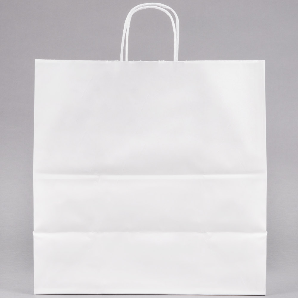 Duro Jr Mart White Paper Shopping Bag With Handles 13 X