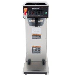 bunn 23001 0058 cwtf aps dv airpot brewer with black plastic funnel dual voltage [ 1000 x 1000 Pixel ]