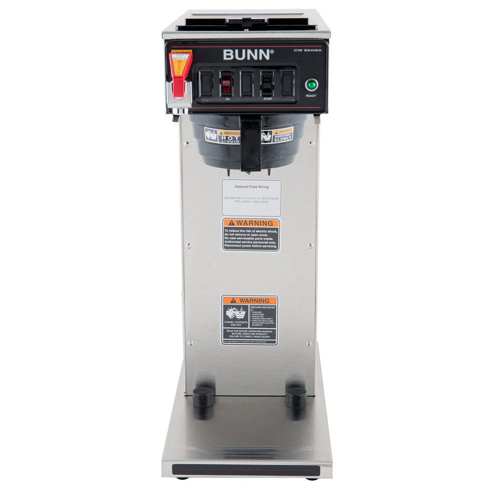 medium resolution of bunn 23001 0058 cwtf aps dv airpot brewer with black plastic funnel dual voltage