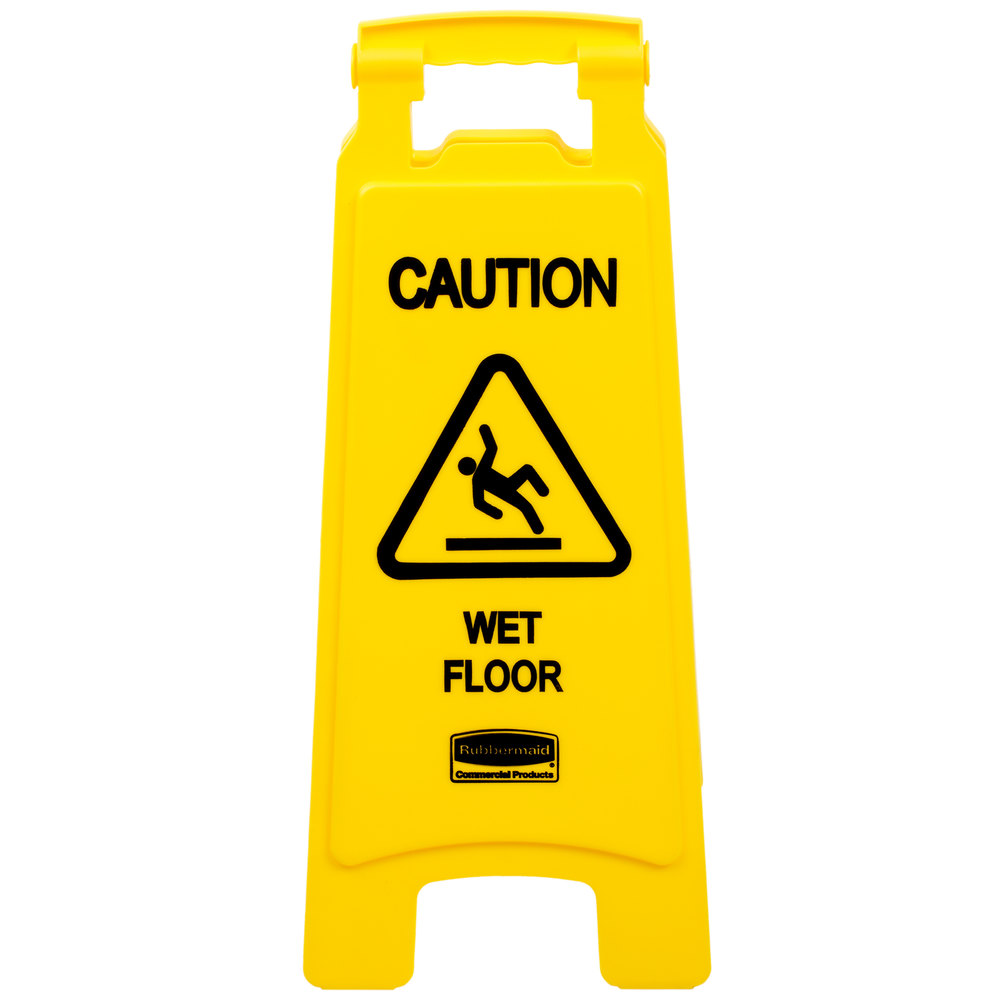 Rubbermaid FG611277YEL 25 Yellow Double Sided Wet Floor