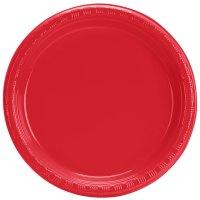 "Creative Converting 28103111B 7"" Classic Red Plastic Plate ..."