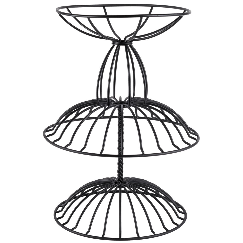 American Metalcraft TTDB2 Wrought-Iron, Two-Tier Basket