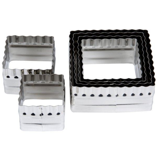 Ateco 52530 6-piece Stainless Two-sided Square Cutter Set
