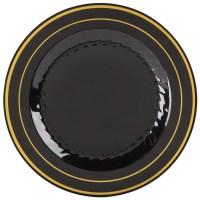 """Fineline Silver Splendor 509-BKG 9"""" Black Plastic Plate ..."""