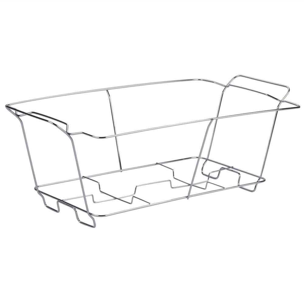 Choice Chrome Wire Chafer Stand for Full Size Disposable Pans