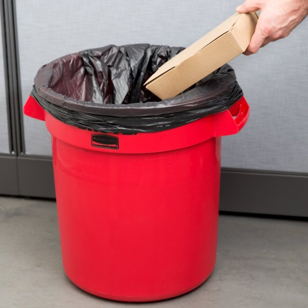 Rubbermaid Brute Fg261000red Red 10 Gallon Trash