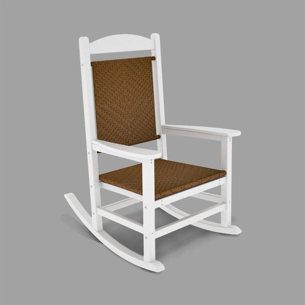 woven rocking chair beach umbrella set polywood r200fwhtw tigerwood presidential 1769702 jpg
