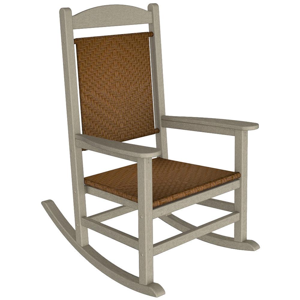 woven rocking chair kids with canopy polywood r200fsatw tigerwood presidential 1769329 jpg