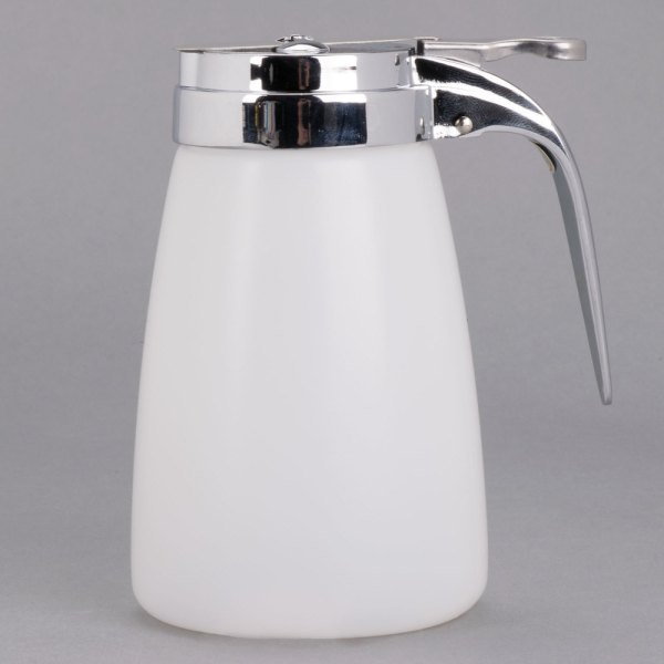 Tablecraft Mw10 10 Oz. Plastic Syrup Dispenser With Chrome
