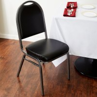 Lancaster Table & Seating Black Stackable Banquet Chair ...