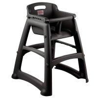 Rubbermaid FG781408BLA Black Sturdy Chair Restaurant High ...