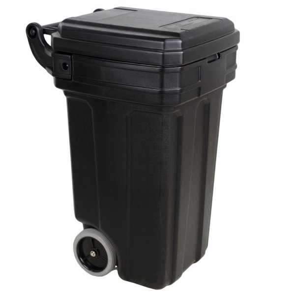 Continental 5850bk Tilt-wheel 50 Gallon Black Trash