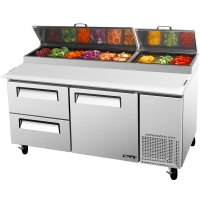 "Turbo Air TPR-67SD-D2 67"" Pizza Prep Table with One Door ..."