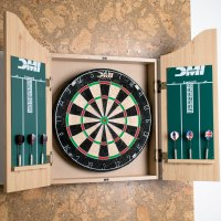DMI Sports CABSETPL Deluxe Dartboard Cabinet Set