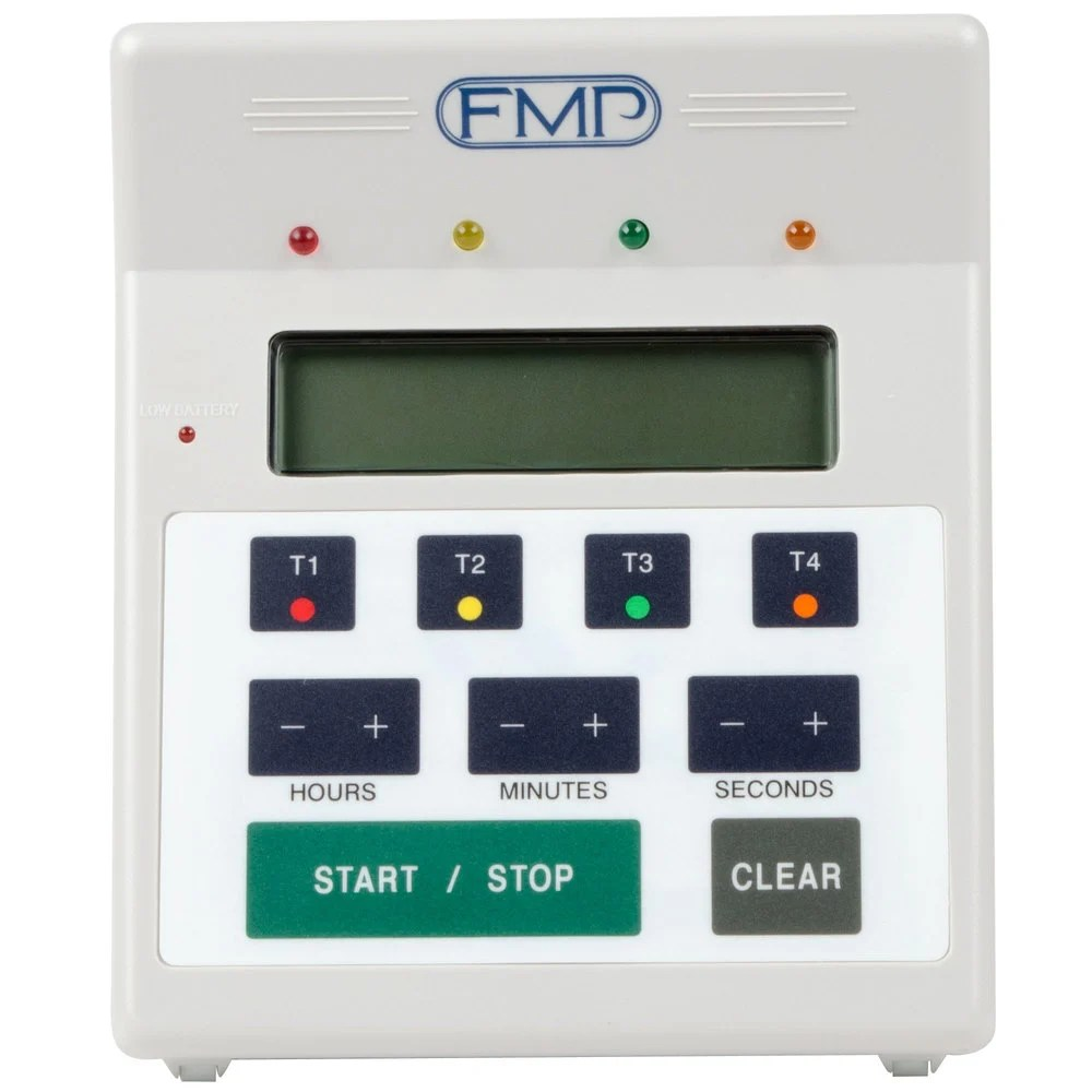 digital kitchen timers white floor fmp 151 7500 4-in-1 countdown timer