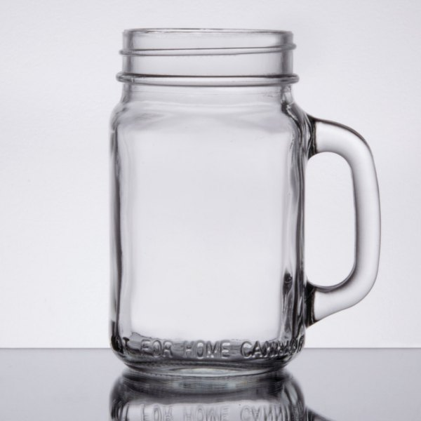 Mason Jars With Handles Core 16 Oz. Jar Glasses Mugs 12 Case