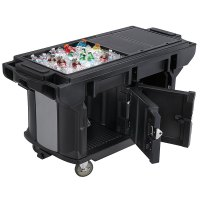 Cambro VBRUT5110 Black 5' Versa Ultra Work Table with ...
