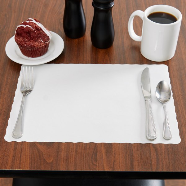 White 10'' X 14'' Colored Paper Placemat Economy